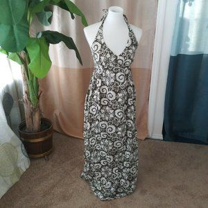 Old Navy Ladies Size M Olive Green Floral dress